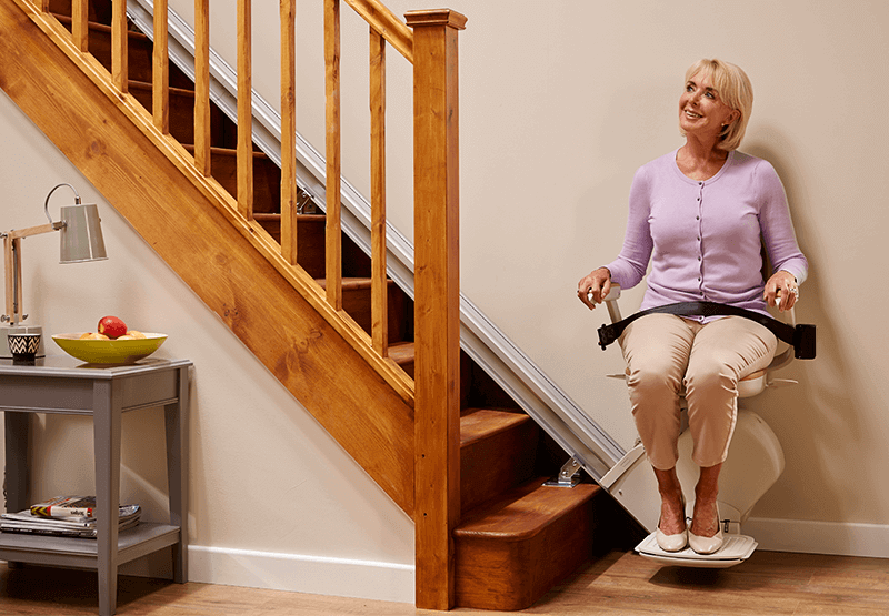 Image of Acorn Straight Stairlift couple seated