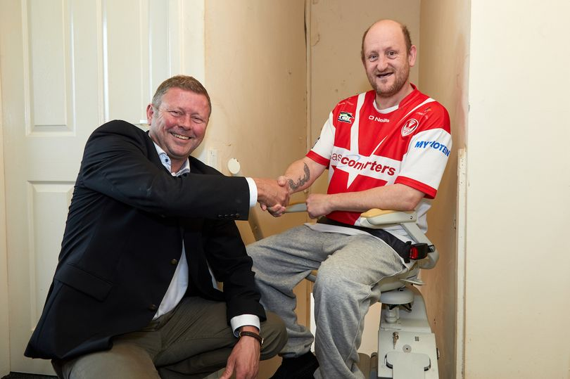 Ex-rugby player tackles his stairs with help from Acorn