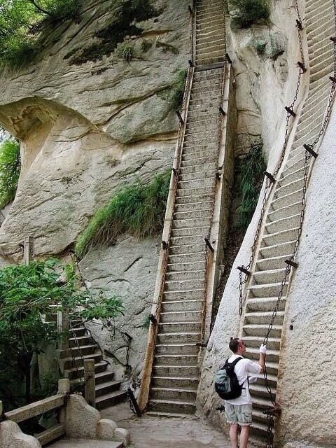 World's scariest stairs will turn your legs to jelly!