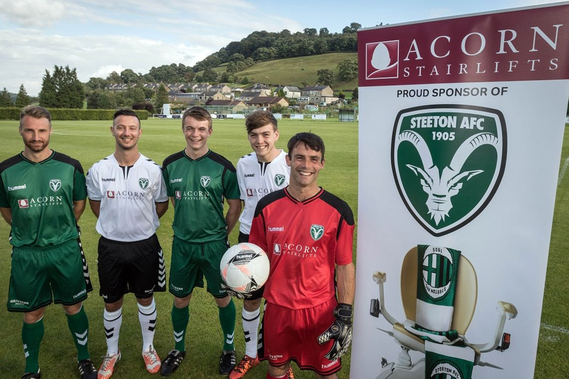 Acorn-sponsored team Steeton AFC on the move